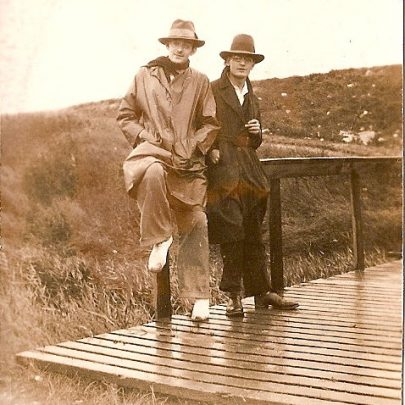 Mum's brother Stanley (on left) with friend, bottom of Seaview Road. | Moireen Murrell