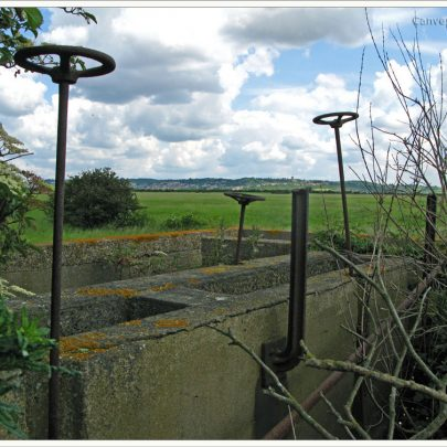 Camp Sewage Works with Benfleet Downs | (c) David Bullock