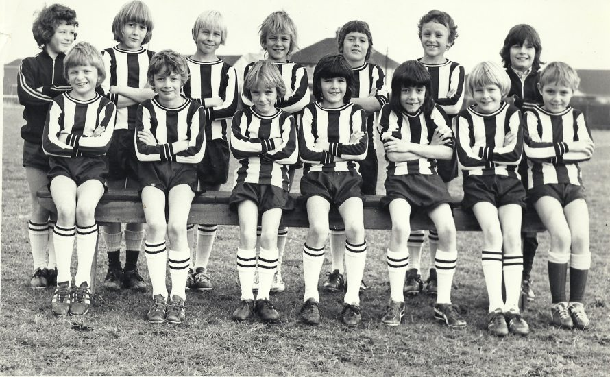 Front row, third from left: Neil Sickelmore, fourth, Mark Peters.