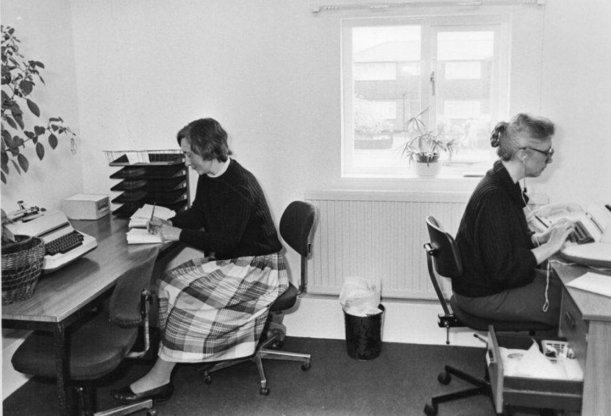 The new Parish Office. l-r Iris Brity and Glenda Gray | Echo Newspaper Group