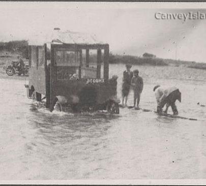 A Bus breaks down in the tide