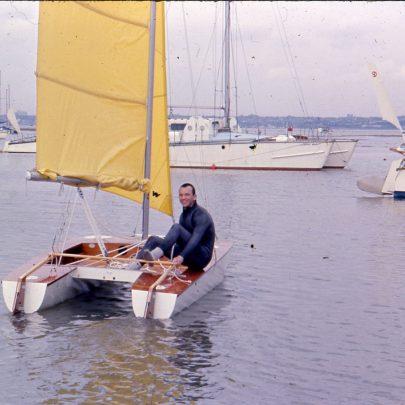 Sailing down Small Gains Creek for Holland   Ian