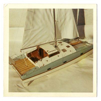 Model of Quasar Catamaran built for Greek shipping owner 1962 | Mike Brown