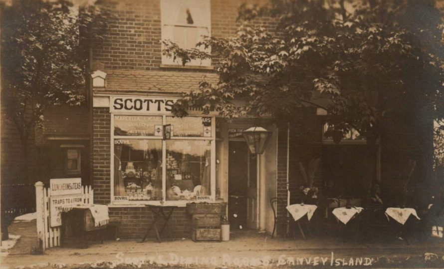 This is a picture of Scotts Dining Rooms which must have been taken c1920s