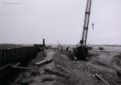 Rebuilding the Seawall in 1953