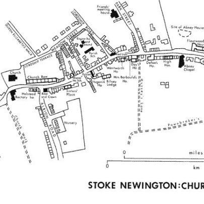 Map of Stoke Newington c1848 | www.british-history.ac.uk