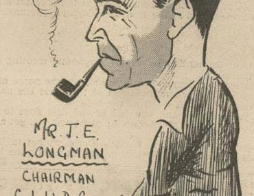 Caricature of John Edwin Longman