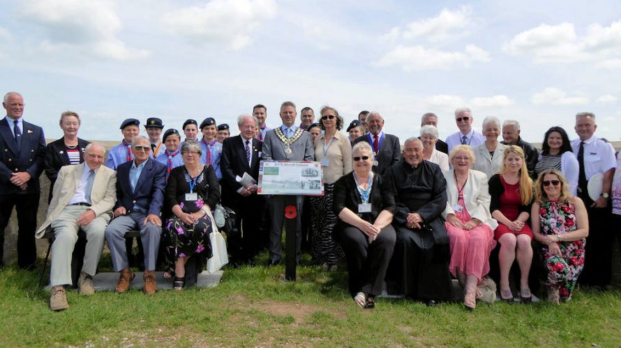 B17 Memorial Benches Unveiling