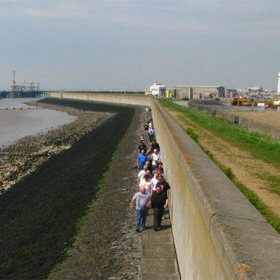 Walking along the Thames side of the Sea Wall | (c) David Bullock