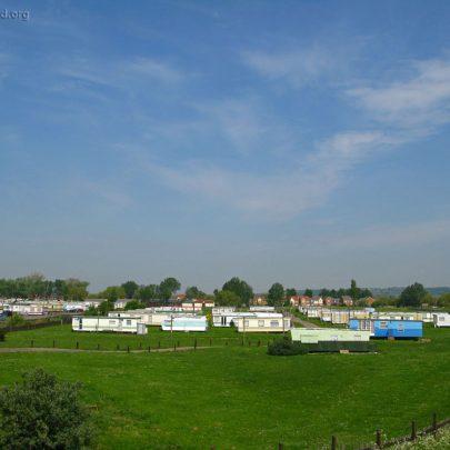 A few remaining Caravans at Thorney Bay Holiday Camp | (c) David Bullock