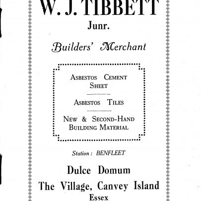 An advert for Tibbett's who lived in the bungalow  called Dolce Domum (Sweet Home). | Swanson Collection