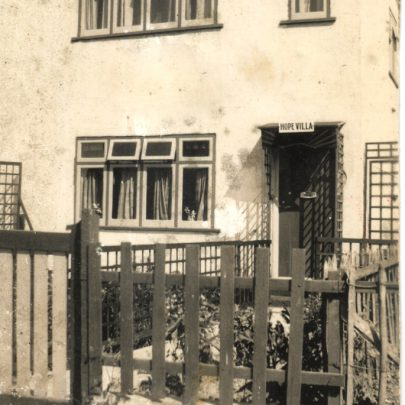 'Hope Villa', Korndyke Road (now Avenue) in the early 50's. I was born here. The house is still there today. We lived here until 1957, when we moved to Dad's shop 'Benwells' in Furtherwick Road. I moved back into the house for a few years after my marriage, and my first son was born here. | George Payne