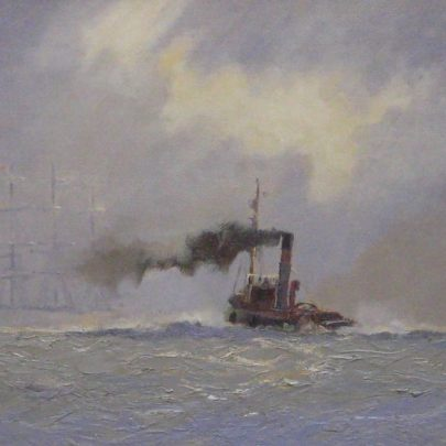 Tug and Ship by Vic Eiils | ©Peter Morice