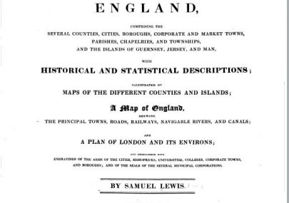 A Topographical Dictionary of England. 4 Volumes