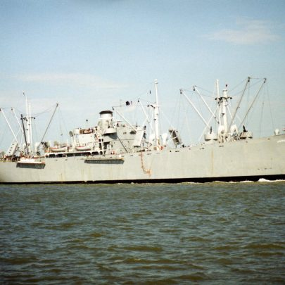 USA Preservation Liberty ship SS Jeremiar O'Brian on it's way to London for the 50 years anniversary of D Day | Ian