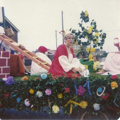 My sister in law Diana Thorpe on the Distaff Club Float | Maureen Buckmaster