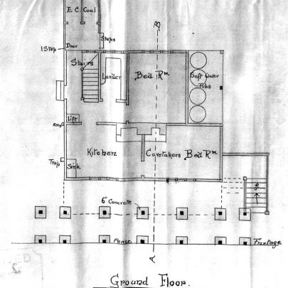 Plans of the ground floor caretakers flat
