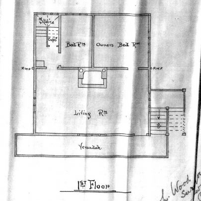 Plan of the main residence upstairs