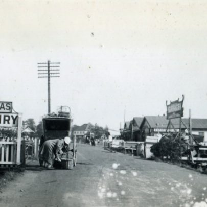 Clements Dairies on the left looking East down the High Road | Henry Clubb