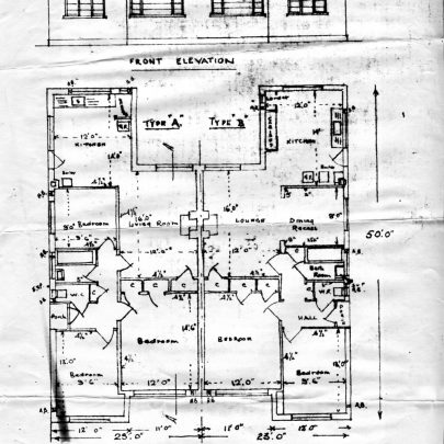Plans of the proposed bungalows