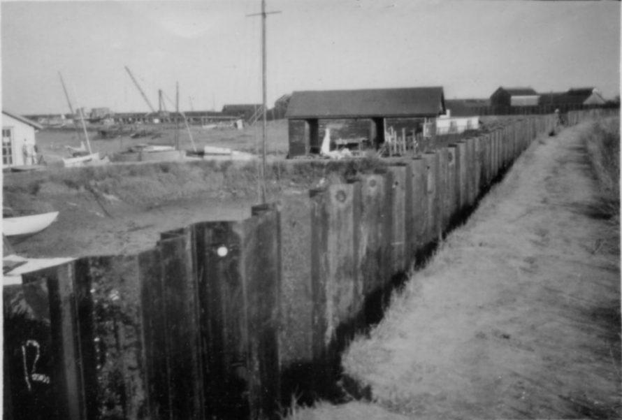 New Seawall Smallgains Creek | Ernest Cutler