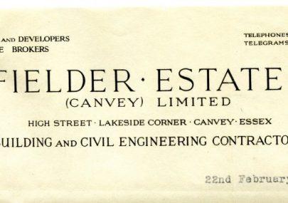 Fielder Estates letter heading