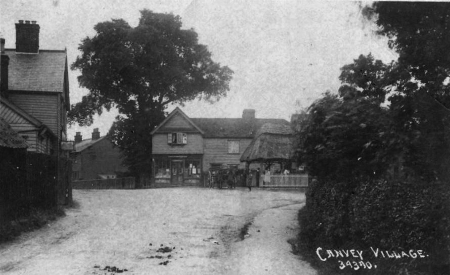 An old postcard of the village