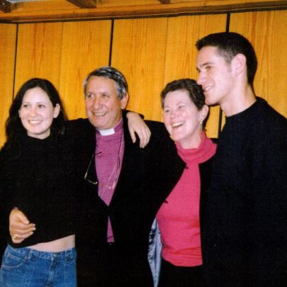 REv Tim Stevens with Wendi and his 2 children Rachel and Adam at the 40th anniversary of St Nicholas Church. | Wendy Knight