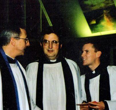 Rev Geoffrey Wrayford and Rev David thomas former clergy of St Nicholas church seen here in 2000. | Wendy Knight