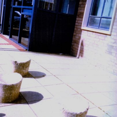 3 out of the 4 old stepping stones that used to be in Benfleet Creek at the time ourside the Council Offices. | Wendy Knight