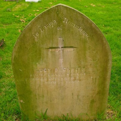 Lucy Beckwith, wife of Charles Beckwith. Died 27th December 1890 aged 50 years | (c) David Bullock