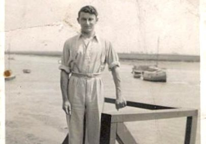 William Bowles and his houseboat