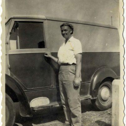 Winnie Capser by her Van