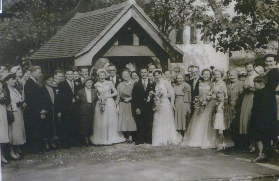 John and Vera's Wedding Day at St Katherine's Church 1955