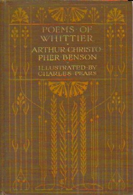 Book of poems by Whiittier, illistrated by Charles Pears