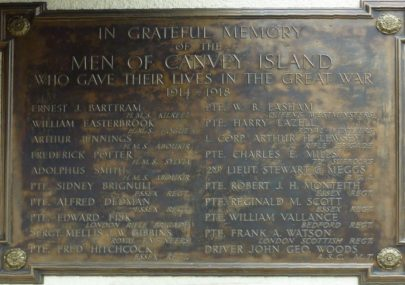 Canvey's Casualties of WWI