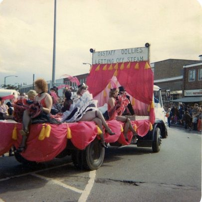 Distaff Club Float at Lakeside corner - Notes Yates Green Grocers | Maureen Buckmaster